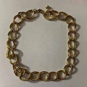 Chunky Gold Chain Link Rope Necklace NWOT